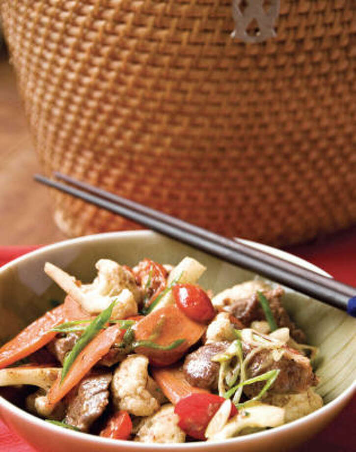 Stir-Fried Cumin-Scented Beef with Vegetables Photo: Steven Mark Needham