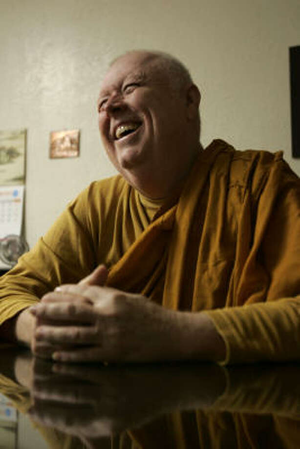 Theravada Buddhist monk Bhante Kassapa will be ordained into the high order of the Vietnamese community of monks this Sunday at the Buu Mon Buddhist Temple in Port Arthur. Photo: Johnny Hanson, For The Chronicle