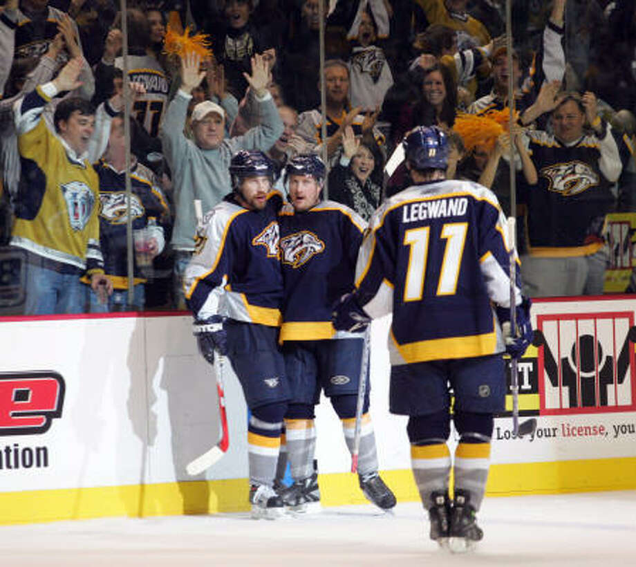 Fans are rallying to buy enough tickets to keep the Predators in Nashville, Tenn. Photo: Neil Brake, AP
