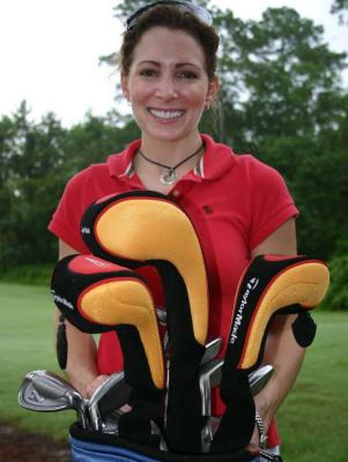 Olympic gymnast Shannon Miller spends much of her life in airports and on airplanes, but she has taken a liking to golf. Photo: DOUG PIKE, CHRONICLE