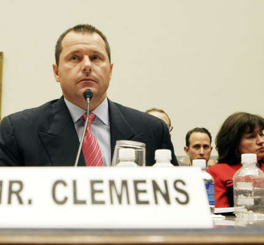Former Astros pitcher Roger Clemens testifies before the House on Feb. 13. He's set to meet with his lawyer this weekend. Photo: Pablo Martinez Monsivais, AP