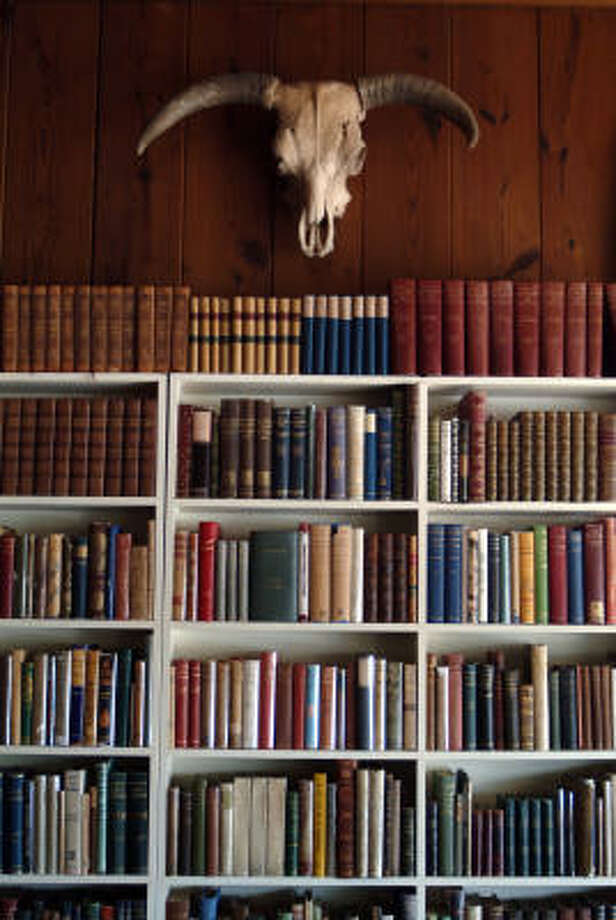 Texana is interspersed with books at Booked Up in Archer City. Photo: Rex C. Curry, FOR THE CHRONICLE