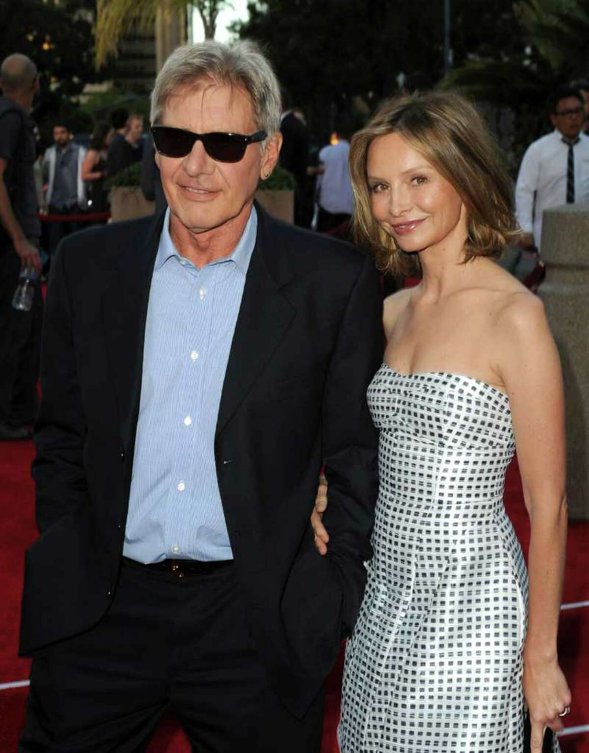 Actors Harrison Ford and Calista Flockhart attend the Premiere of Universal Pictures