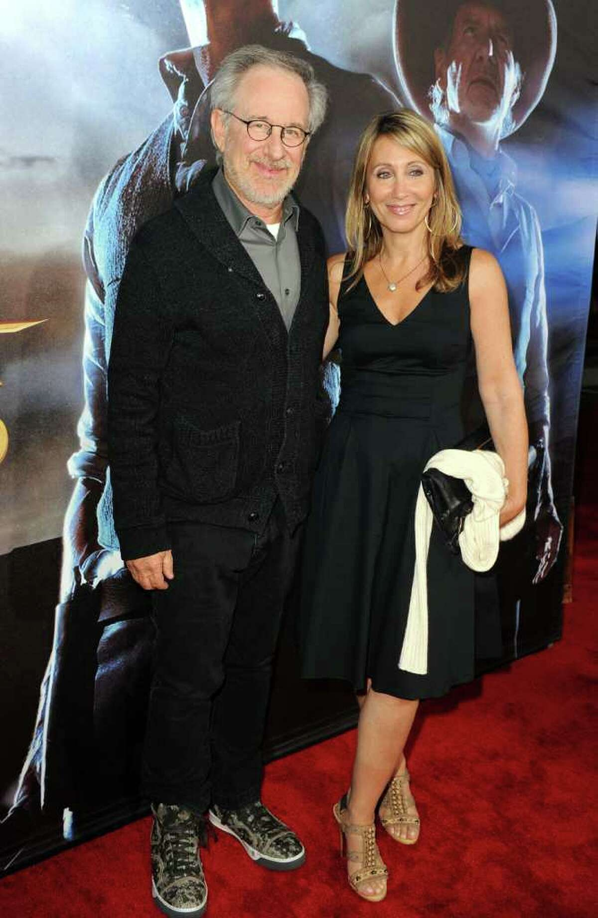 Executive producer Steven Spielberg and Kate Capshaw attend the Premiere of Universal Pictures