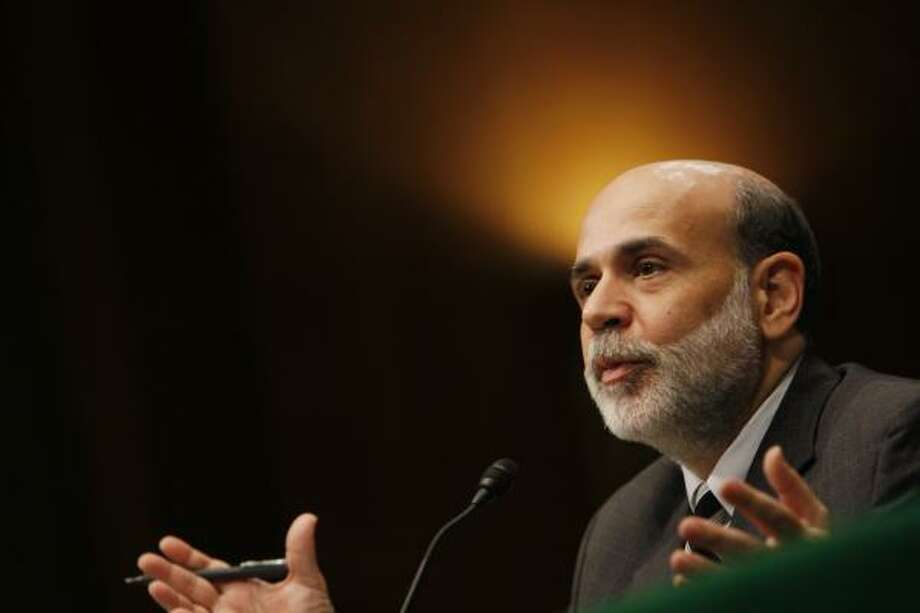 Federal Reserve Chairman Ben Bernanke urges that the bailout be OK'd as he testifies in Washington on Wednesday. Photo: CHARLES DHARAPAK, ASSOCIATED PRESS