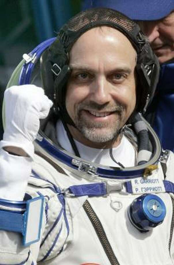 Richard Garriott, the son of a former NASA astronaut, is the world's sixth space tourist since 2001. Photo: DMITRY LOVETSKY, AP