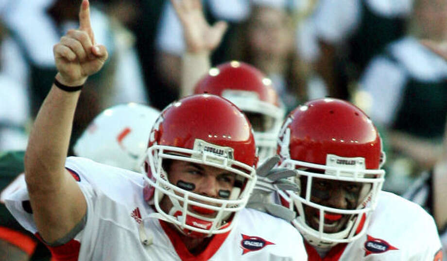 Quarterback Kevin Kolb (4) and company would have plenty to celebrate should they beat Southern Miss. Photo: LUIS M. ALVAREZ, AP