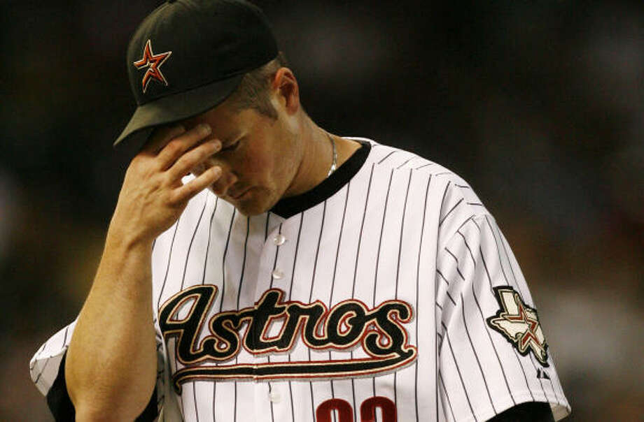 Jason Jennings' rough season with the Astros is over. He will have season-ending elbow surgery. Photo: Billy Smith II, Chronicle