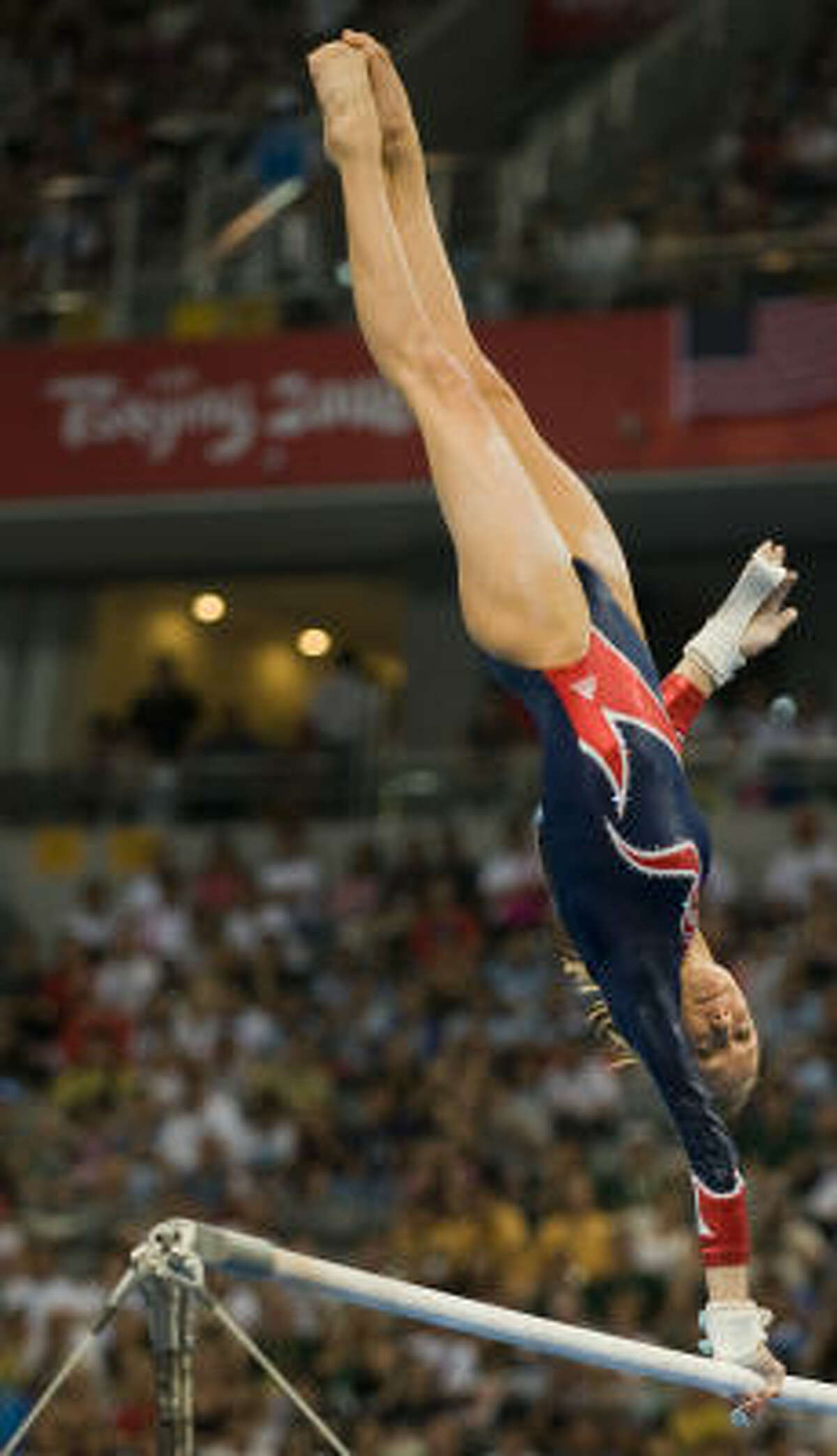American Nastia Liukin finished second in the uneven bars despite having a gold-medal score.
