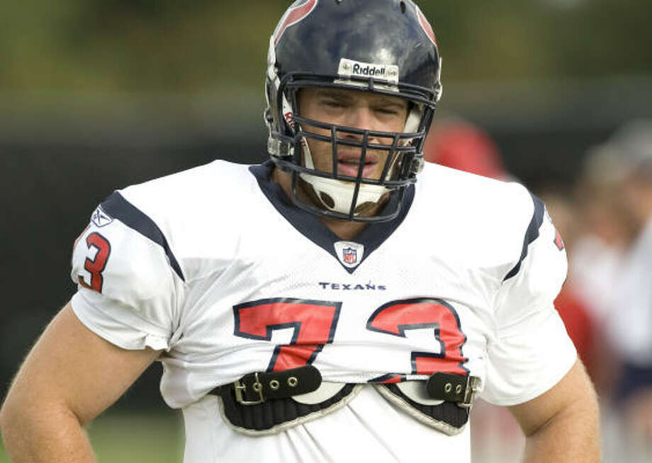 Former Texans offensive lineman Eric Winston has had several stops in the NFL free-agent carousel. Photo: Brett Coomer, Chronicle