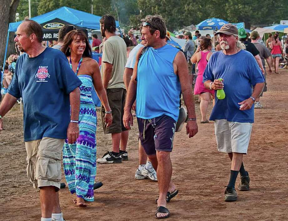 Day three of the Gathering of the Vibes wasn't as hot as day two and the attendees took full advantage of the slightly cooler temperature. Photo: Mike Macklem / Hearst Connecticut Media Group