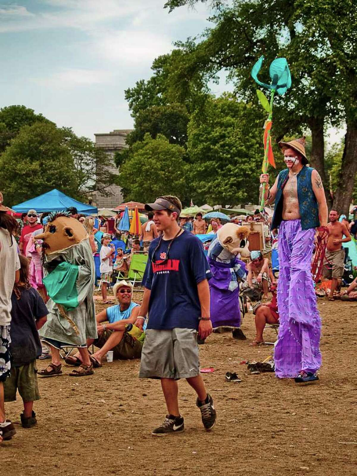 Day three of the Gathering of the Vibes wasn't as hot as day two and the attendees took full advantage of the slightly cooler temperature.