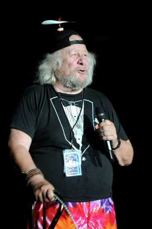 Wavy Gravy speaks during The Gathering of the Vibes festival on July 23, 2011. Photo: Lindsay Niegelberg / Connecticut Post staff