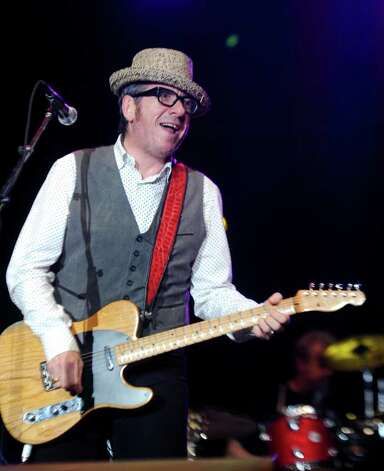 Elvis Costello performs during The Gathering of the Vibes festival on July 23, 2011. Photo: Lindsay Niegelberg / Connecticut Post staff