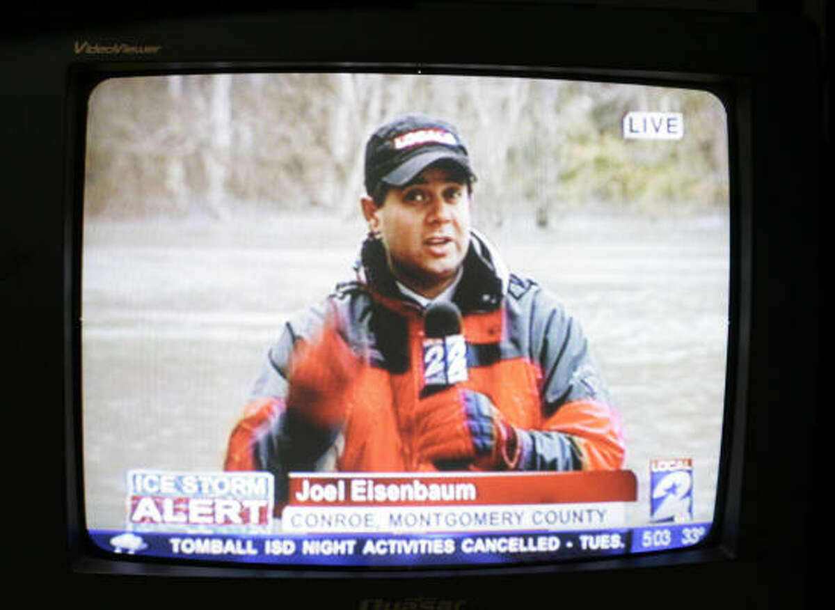 Channel 2's Joel Eisenbaum reported live from Conroe.
