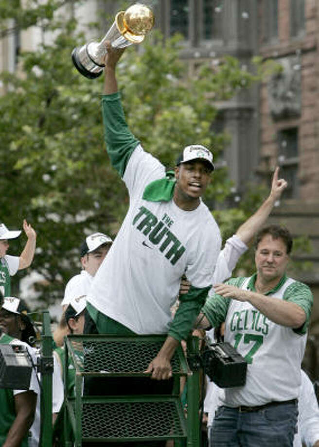 With the recent success of the Patriots, Red Sox and Paul Pierce and the Celtics, Boston has become the City of Champions. Photo: Steven Senne, AP