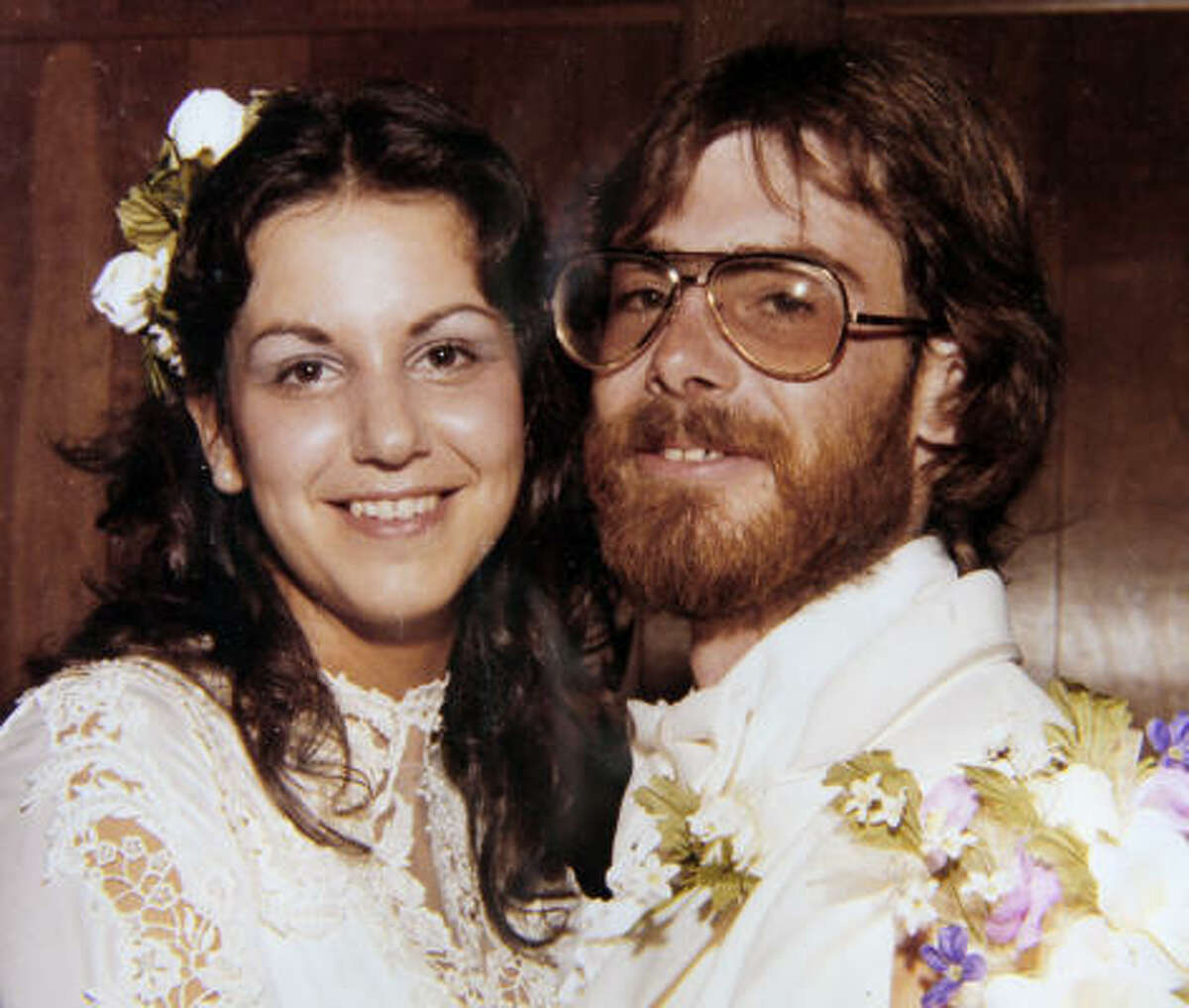 Colleen Schultheis, shown in a 1979 wedding photo with Bob Emery, said she wasn't surprised to learn her ex-husband risked his life to save animals.