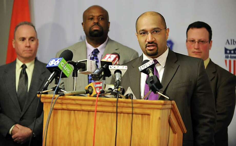 A federal appeals court in Atlanta is expected to rule soon on a civil rights lawsuit filed against Albany County District Attorney David Soares, second from right.  (Lori Van Buren / Times Union) Photo: Lori Van Buren / 00012390A