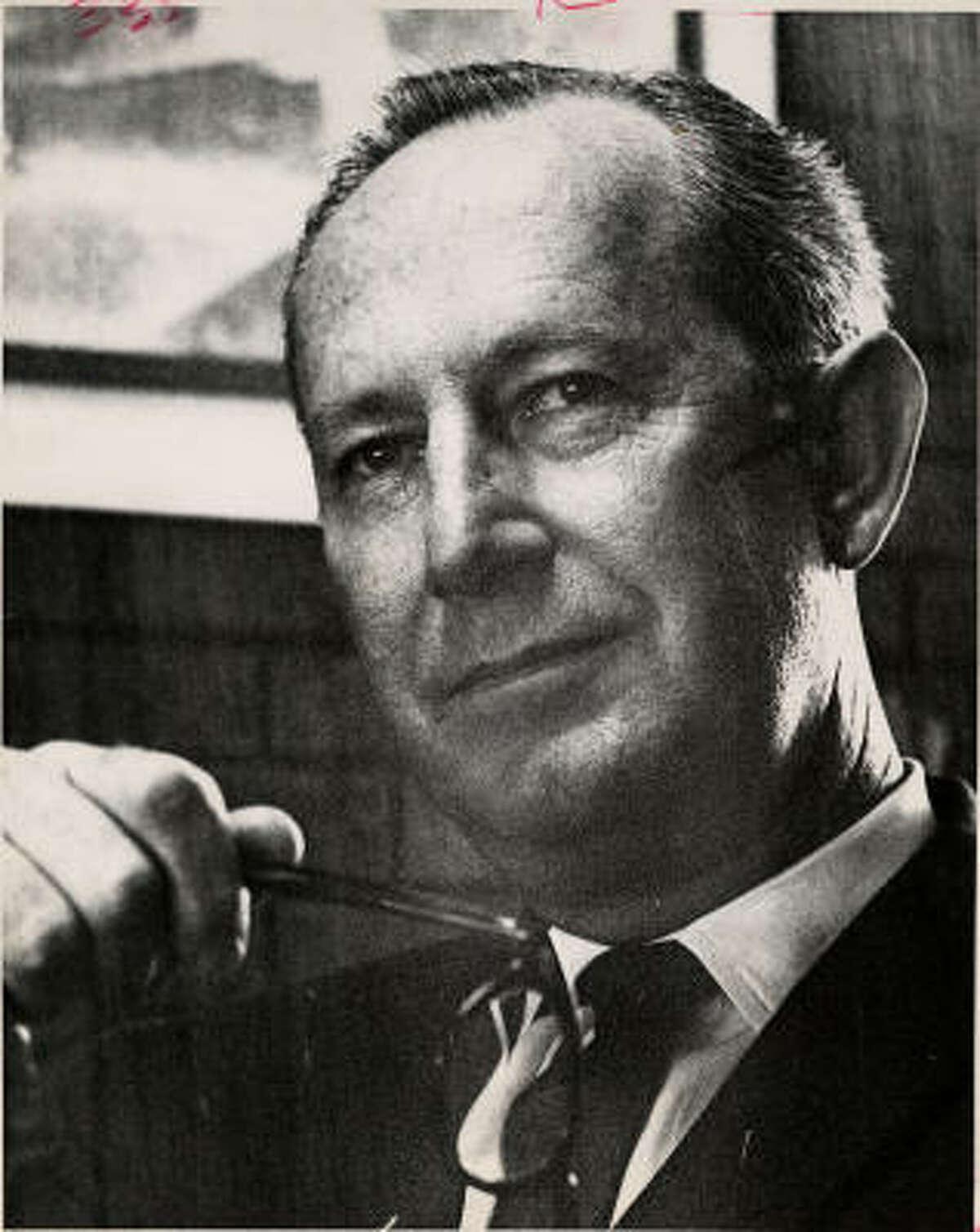 Arleigh Templeton, shown in 1963.