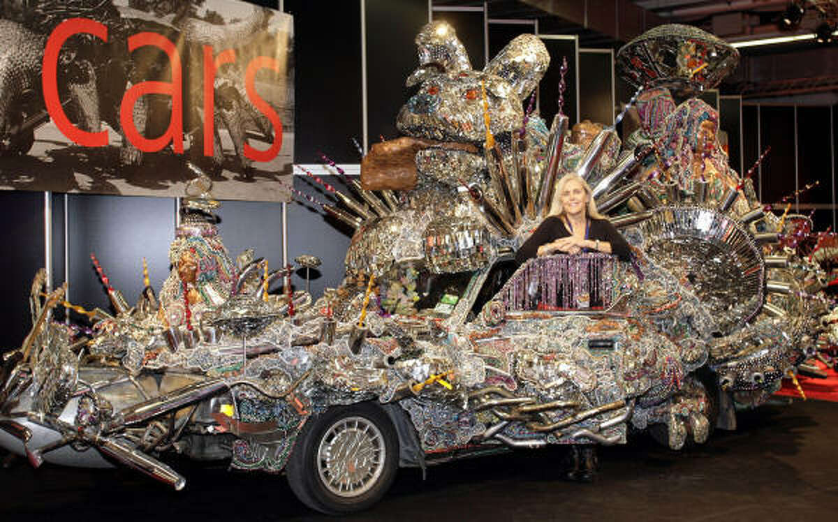 A group of Waltrip High School students created this car in honor of George Clinton's Atomic Dog.