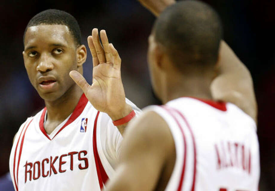 The Rockets are looking for someone to call the action when Tracy McGrady is on the court next season. Photo: James Nielsen, Chronicle