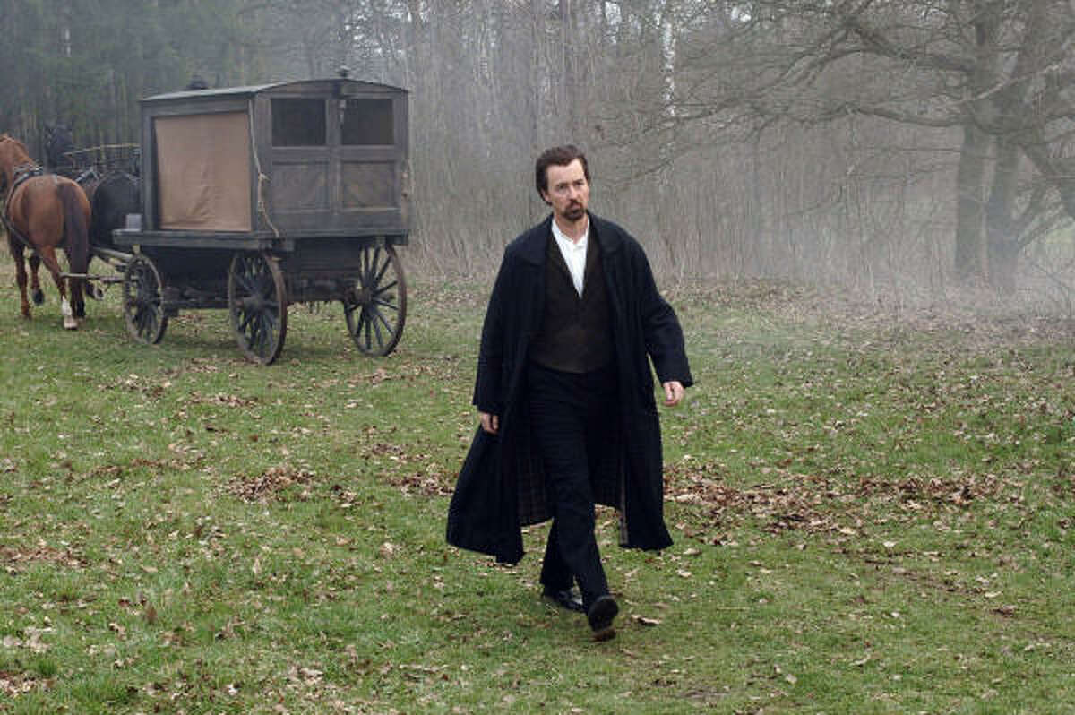 Edward Norton stars as a magician using his skills to win back a lover in The Illusionist.