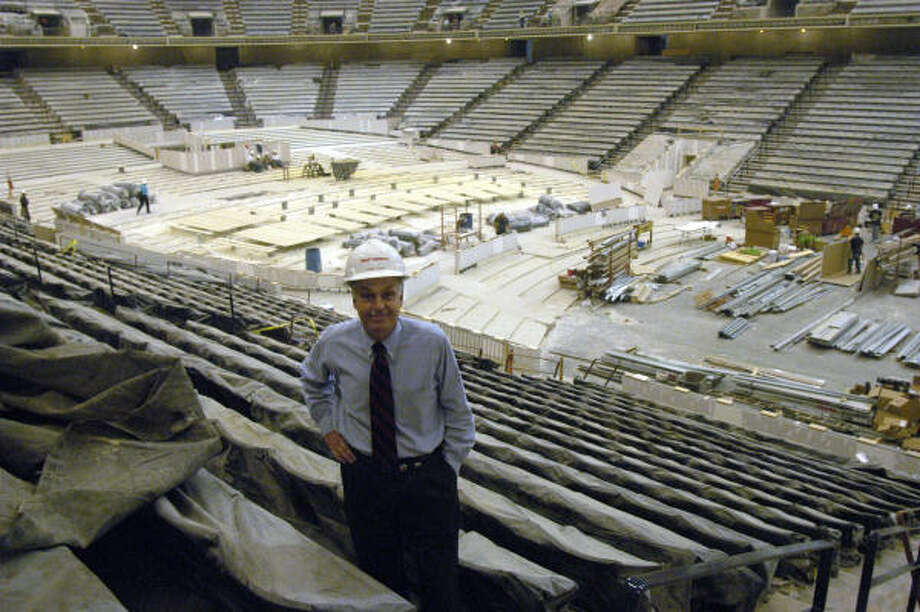 Howard Tellepsen, owner of Tellepsen Construction, says he is proud of his company's work on converting the former Compaq Center into Lakewood Church. Photo: E. Joseph Deering, Chronicle File