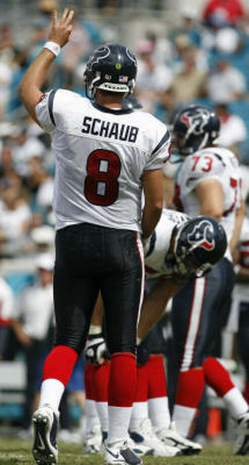 The Texans are looking to QB Matt Schaub to keep the ball rolling against Miami. Photo: Karen Warren, Houston Chronicle