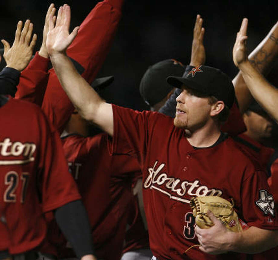 Randy Wolf helped the Astros by going 6-2 after coming from the Padres. Photo: Nam Y. Huh, AP