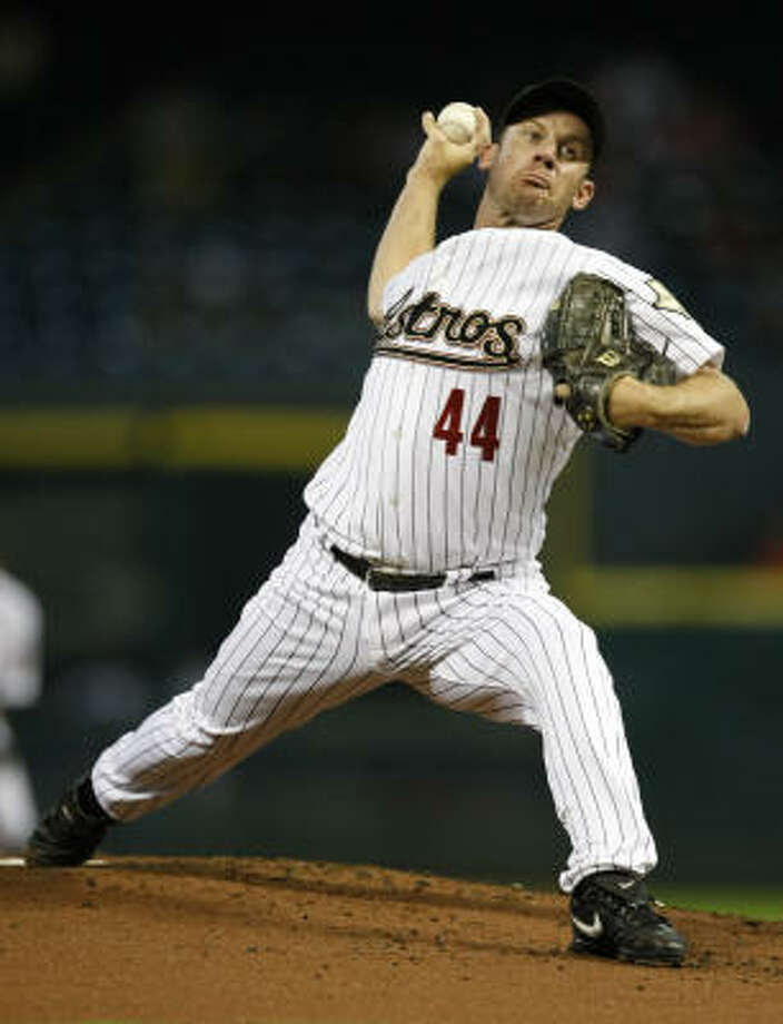 Roy Oswalt's days in Houston could be numbered after the ace righty asked for a trade. Photo: Julio Cortez, Chronicle