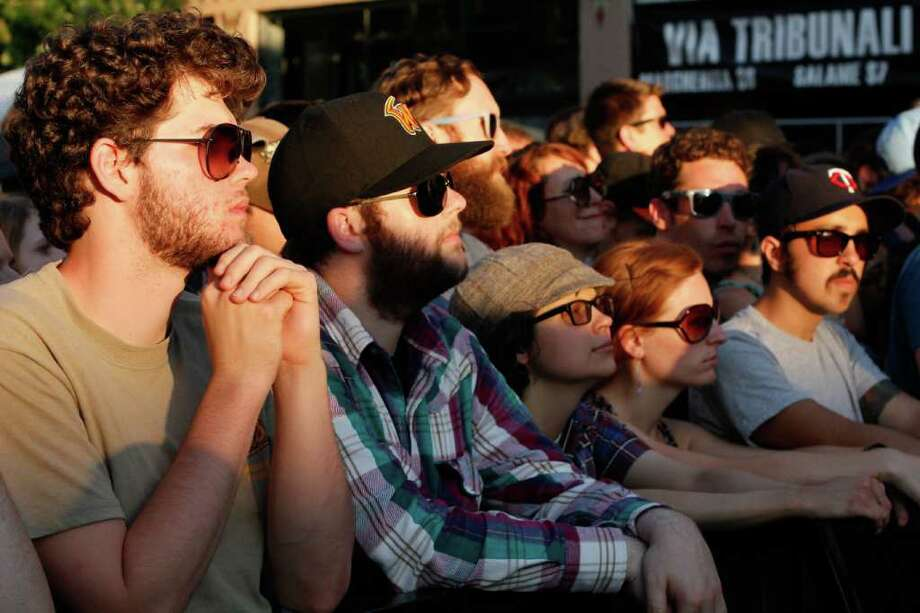 "Spectators watching the band ""Explosions in the Sky"" at the Capitol Hill Block Party in Seattle on July 24, 2011 Photo: JOE DYER / SEATTLEPI.COM"