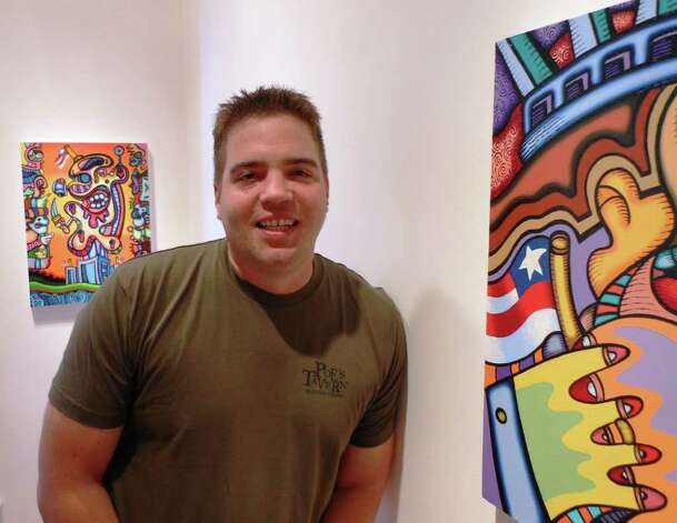 "Jason Stout's is exhibiting new paintings and drawing in a show titled ""Sovereignty, Viscosity and Reprise"" at REM Gallery. Stout, a Tennessee native, earned his master's degree in art from the UTSA in 2004. He teaches at the University of Tennessee. Photo: Photo By Steve Bennett"