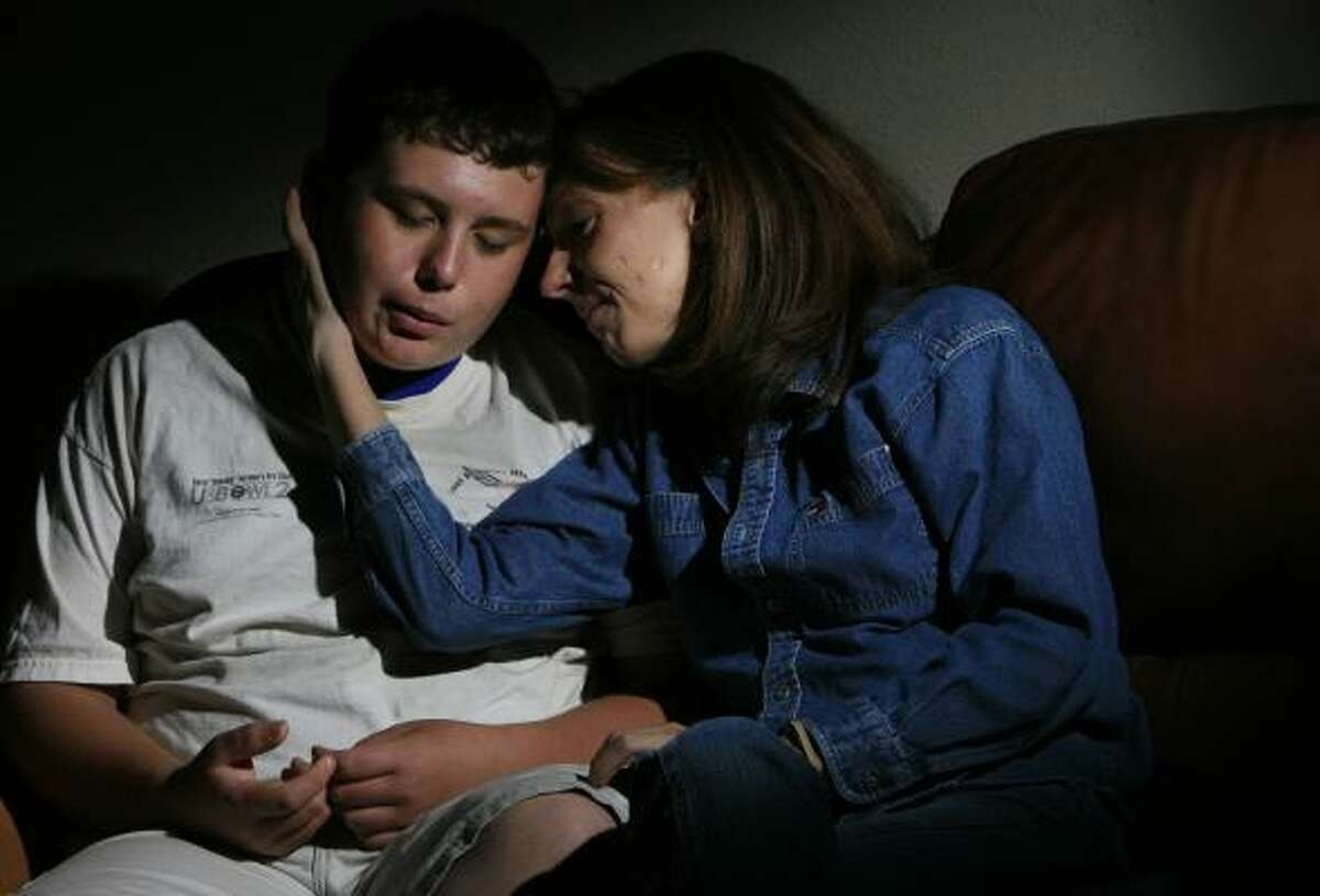 School anxiety survivor Michelle Phillips' son, Nick, 14, suffers from the same condition.