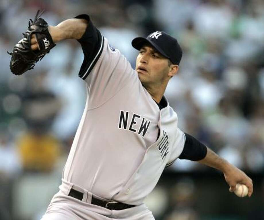 New York Yankees' Andy Pettitte returns to Minute Maid Park tonight as a visitor for the first time. Photo: Ben Margot, AP