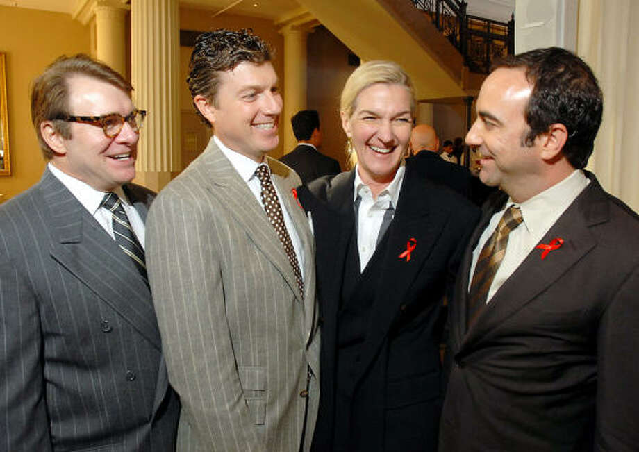 Heading up the World AIDS Day luncheon at the Corinthian, benefiting AIDS Foundation Houston, were Bill Caudell, from left, Randy Powers, Holly Moore and Jim Kastleman. Photo: Dave Rossman, For The Chronicle