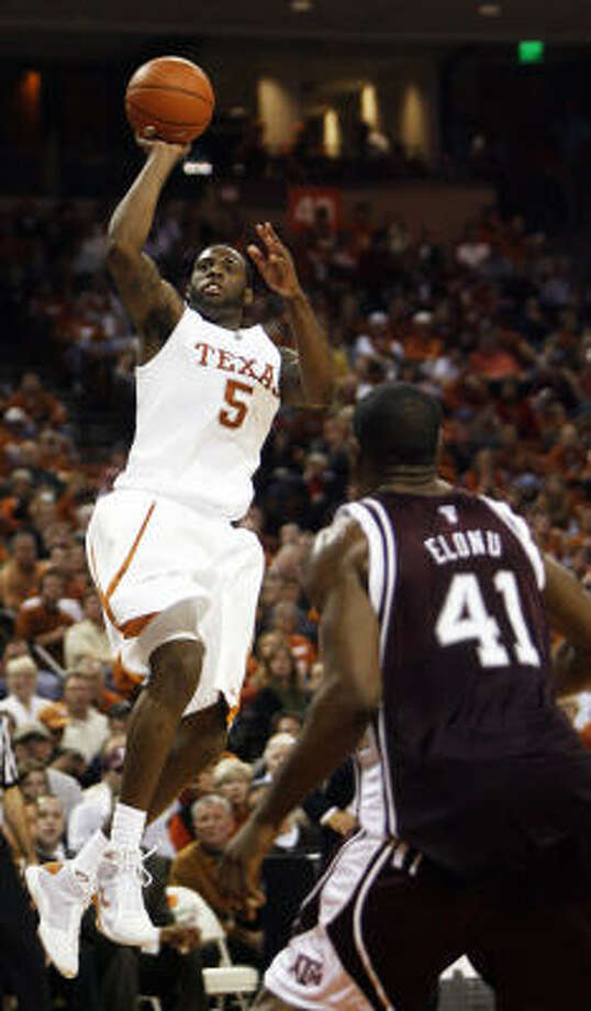 Damion James scored 28 points in the game, and his 11 in the final two minutes sealed the win. Photo: Deborah Cannon, AP