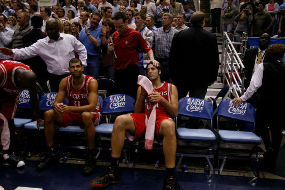 Heartbreak is an all-too-familiar early May emotion for the Rockets, who haven't advanced since 1997. Photo: Nick De La Torre, Houston Chronicle