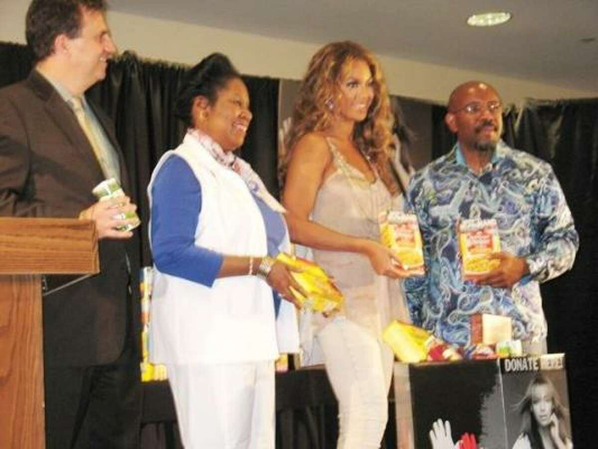 Jackson Lee appeared with Beyoncé at a news conference before the singer's show in Houston July 4. Beyoncé announced an anti-hunger campaign.