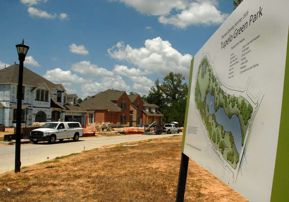 COMING TO TOWN New Homes Are Being Built In The Neighborhood Of Tupelo Woods