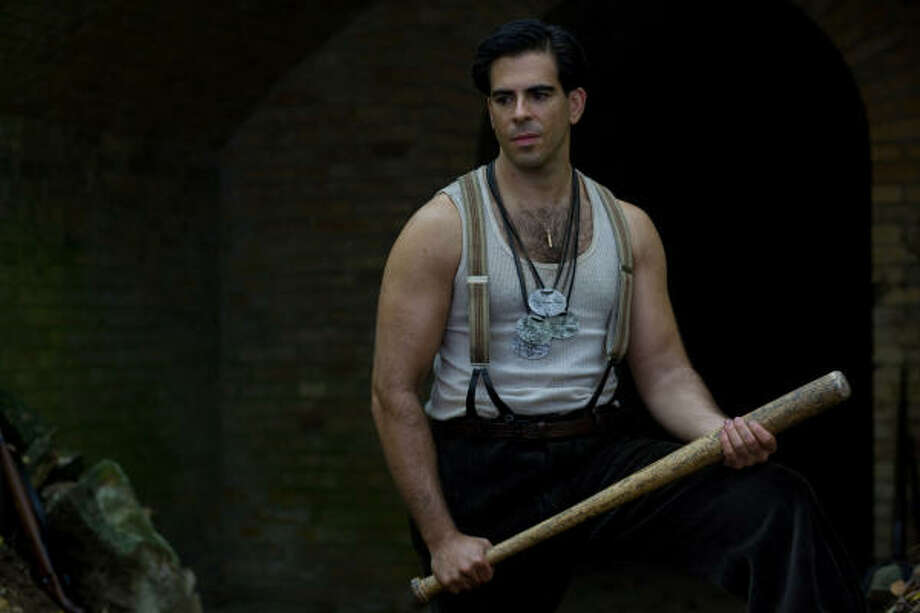 Sgt. Donny Donowitz's (Eli Roth) weapon of choice is an American-made baseball bat that he uses to dispatch Nazis. Photo: TWC