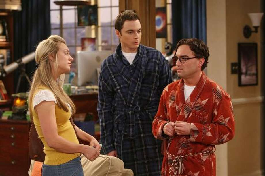The Big Bang Theory, which features Penny (Kaley Cuoco, from left), Sheldon (Jim Parsons) and Leonard (Johnny Galecki), deserves the Emmy for best comedy series. Photo: MONTY BRINTON :, CBS