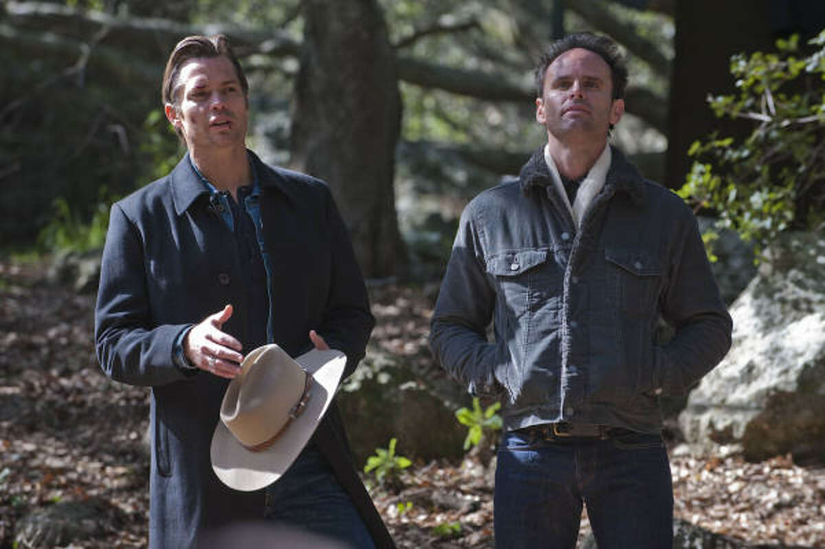 FX's Justified, which stars Timothy Olyphant, left, is a TV drama that may be too brutal for Emmy voters to give it Best Drama, but it deserves it.