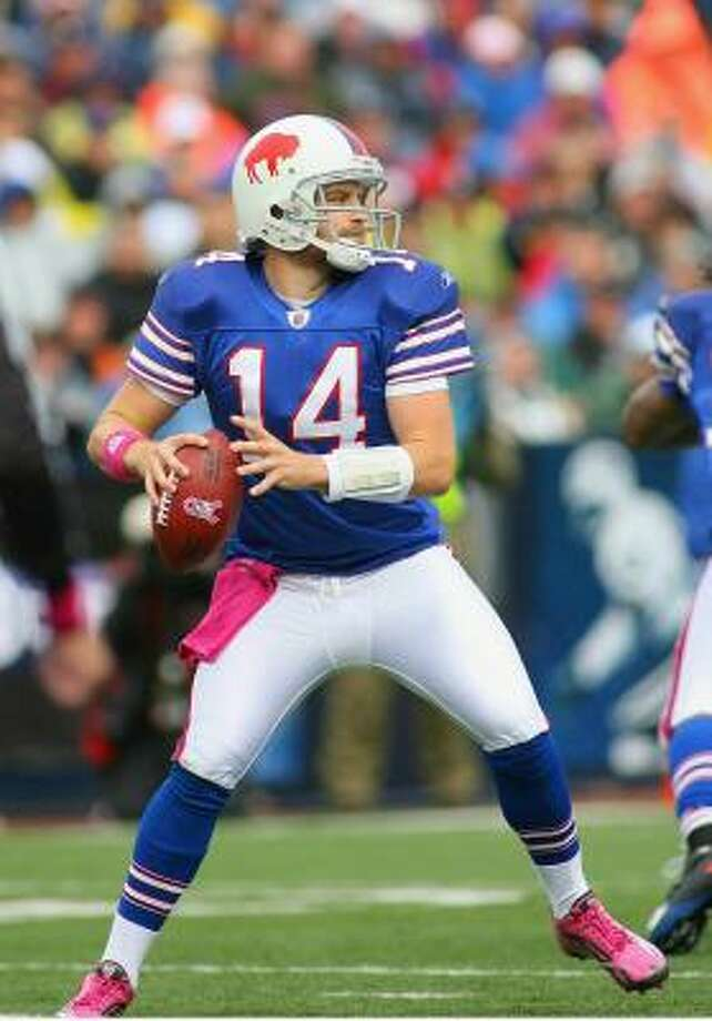 Bills quarterback Ryan Fitzpatrick ranks second behind Peyton Manning with a quarterback rating of 102. Photo: Rick Stewart, Getty Images