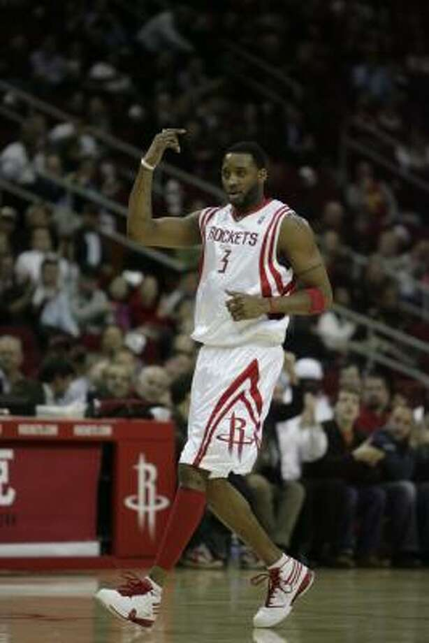 Rockets forward Tracy McGrady said he would 'of course' choose a team based on seeking his best chance to win. Photo: Billy Smith II, Chronicle