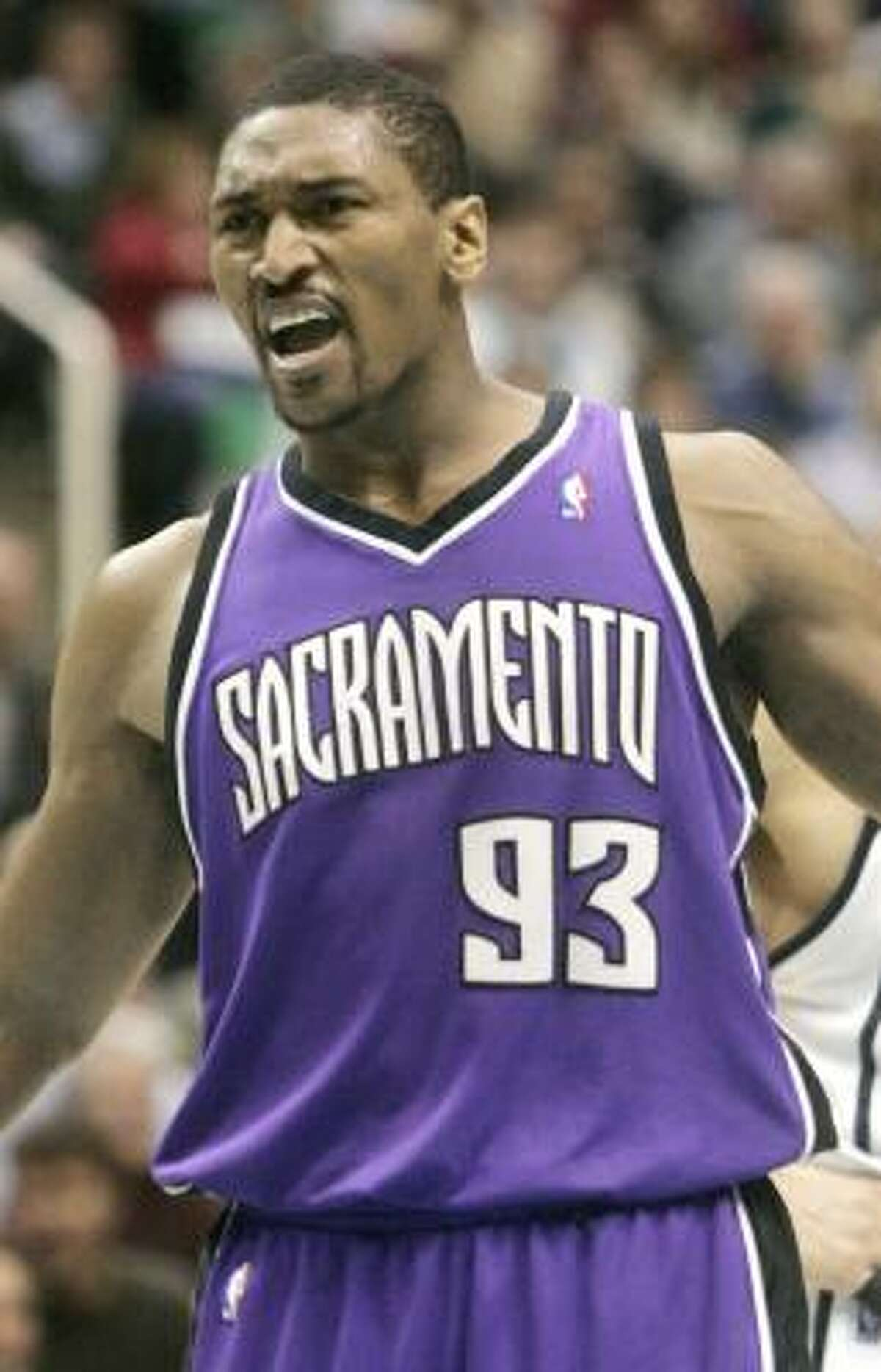 Ron Artest was named the NBA's top defensive player in 2003-04.