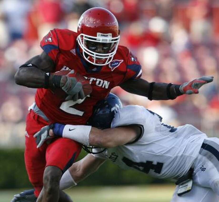 Houston's Donnie Avery set a school and Conference USA record with 346 receiving yards against Rice last Saturday. Photo: KEVIN FUJII, CHRONICLE