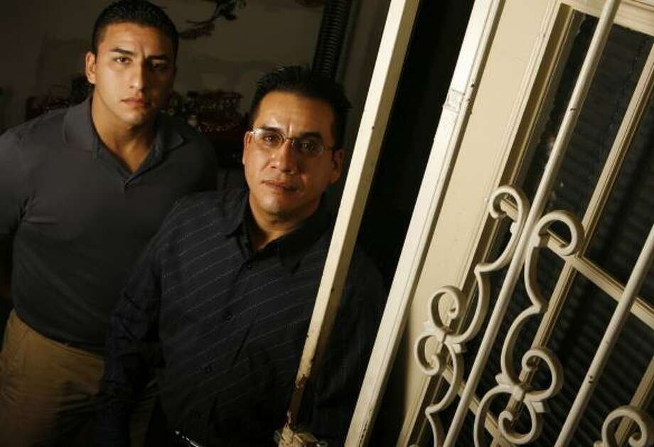 A lawsuit filed by brothers Erik Adam Ibarra, left, and Sean Carlos Ibarra — which later uncovered romantic e-mails sent by Harris County District Attorney Chuck Rosenthal — originally stemmed from a 2002 arrest. The brothers were later cleared of wrongdoing. Photo: MELISSA PHILLIP, CHRONICLE