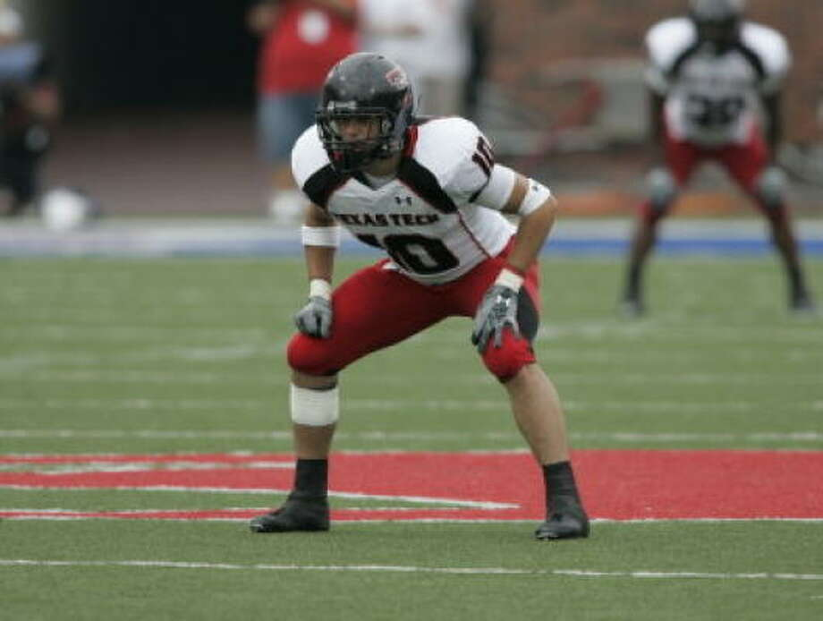 Texas Tech's Daniel Charbonnet leads the nation with four interceptions. Photo: Courtesy Of Texas Tech