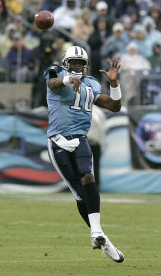 Vince Young has always been successful against the Texans but struggled against the rest of the league. Photo: Brett Coomer, Houston Chronicle