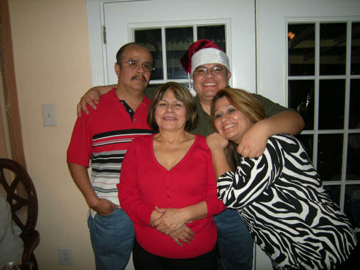 Victim Homero Rosales, top left, celebrates the holidays with, clockwise from the top, his brother, Mario Rosales, sister Claudia Villa and mother Elia Rosales.